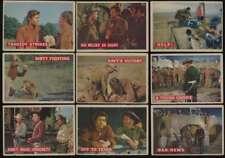 1956 Topps Davy Crockett Orange  G/VG lot of 16 different cards low grade 47648