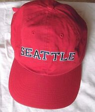 Baseball cap red seattle One Size adjustable strap by fahrenheit