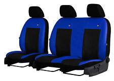 """RENAULT TRAFIC 2+1 2014 PRESENT ECO LEATHER """"ROAD"""" SEAT COVERS MADE TO MEASURE"""