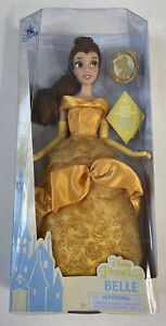 """NEW Disney Princess Belle Classic Doll With Pendant 11"""""""