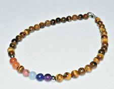 Tiger Eye Chakra Stones Anklet Bracelet Crystal Healing Natural Gemstones