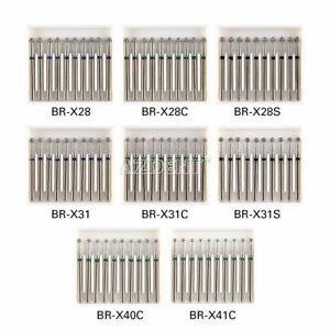 8Types AZDENT Dental Diamond Bur Ball Round FG XL 25mm Stainless Steel 10pcs/kit