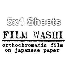 Washi Película-hecho a mano película sobre papel japonés - 4 X 5 Hojas 12 Pack