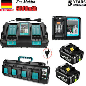 Für Makita Original Ersatzakku 18V 5AH 6Ah 9Ah LXT-400 Li-ion BL1860 & Ladegerät