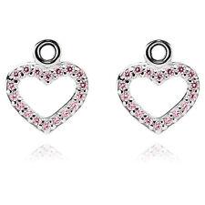 Nuevo Genuino Pandora Pink CZ corazón plata esterlina Pendientes Colgantes 290657 PCZ £ 125