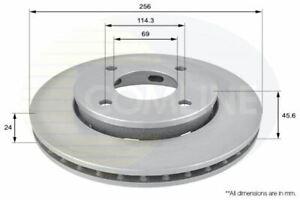 FOR SMART FORFOUR 1.3 L COMLINE FRONT COATED BRAKE DISCS ADC0374V