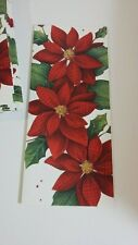 Diane Arthur Plaid Poinsettia Christmas Cards lot of 12 card/envelope sets