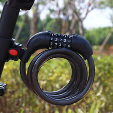 5 Digit Bicycle Combination Cable Cycling Bike Password Lock Security 1200x12mm