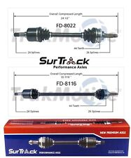 For Ford Escort FWD ZX2 1998-2003 Pair of Front CV Axle Shafts SurTrack Set