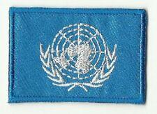 ECUSSON PATCHE THERMOCOLLANT DRAPEAU NATIONS UNIES ONU DIM. 4,5 X 3 CM