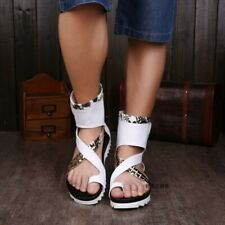 Mens Outdoor Thong Clip On Flats Leather Match Color Gladiator Sandals Floral Sz