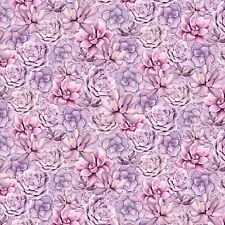 Wilmington Humming Along Purple Succulents 100% Cotton Quilting Fabric Sby