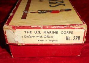 Vintage Britains Toy Soldier Set No. 228 U.S. Marine Corps Blue Uniform in box