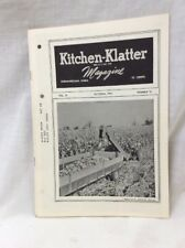 Vintage Kitchen Klatter Magazine local Recipes Shenandoah Iowa October 1964
