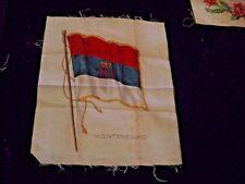 "New listing Antique Tobacco Montenegro Silk Flag Card 6-3/4"" X 8"""