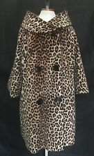 VTG 60s Faux Fur LEOPARD Swing Coat ILGWU Jacket FAIRMOOR for SOMALI Cheetah