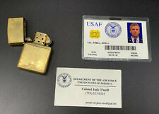 Stargate SG-1 Screen Used Prop Jack O'Neill USAF ID, Business Card, Zippo W/ COA