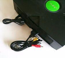 NEW AC Power Cord +  AV RCA TV Hookup Connection Bundle Original Microsoft XBOX