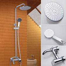 """8"""" Shower Faucet Set Chrome Brass Wall Mount Bathtub Mixer Tap Shower Set"""