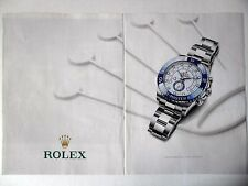PUBLICITE-ADVERTISING :  ROLEX Oyster Perpetual Yacht Master II [2pages] 2014