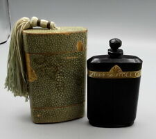 VTG 1920s CARON La Nuit De Noel Baccarat Numbered PERFUME in BOTTLE SHAGREEN BOX