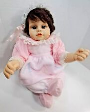 """2000 Heritage Mint Lifelike Baby Doll GIRL Brown Eyes Hair Weighted Jointed 20"""""""