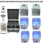 6pcs/fly case 6X6in1 Powered Led Par Lights WIFI IOS Android Wireless DMX