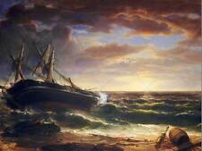 Asher brown durand american stranded ship old art painting affiche BB4882B