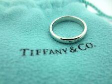 Tiffany & Co Lucida Platinum 3mm Wedding Engagement Eternity Band Ring Size 6.5