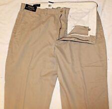 Polo Ralph Lauren Big and Tall Mens Hudson Tan Khaki Chinos Pants NWT 44 T x 36