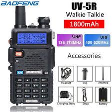 Baofeng UV-5R VHF/UHF Dual Band USB Two Way Ham Radio Walkie Talkie Earphone