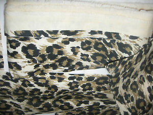 BLACK/BROWN/BEIGE COTTON MATERIAL, PIECES (APPROXIMATELY 1/2 YARD)