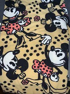 NWT LuLaRoe Disney Leggings One Size OS Classic Minnie On Gold