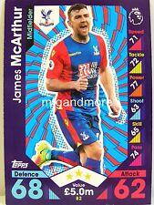 Match Attax 2016/17 Premier League - #082 James McArthur - Crystal Palace