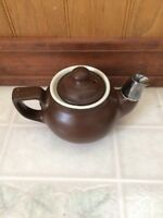 Hall Teapot Single Serve Loose leaf Brown Small Tea For One Vintage Made In USA