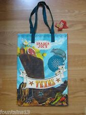 TRADER JOE'S TEXAS Reusable Grocery Shopping Tote Bag *NWT*