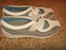 Keds White Silver Leather Strap Mary Janes Womens Size 7