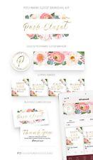 POSHMARK CLOSET Branding Kit   Poshmark Logo & Closet Banner   Peony Flowers