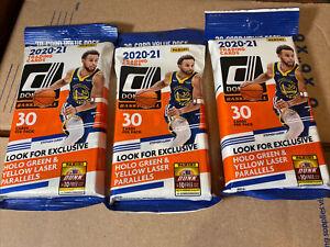 2020-21 Panini Donruss Basketball NBA 3 Cello  Packs 30 Cards Brand New-