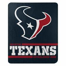 "New Houston Texans Nfl Split Wide Fleece Throw Blanket Large Size 50""x60"""