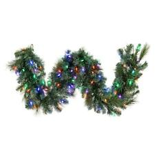 Vickerman Prelit Christmas Mixed Brussels Pine Garland with Timer