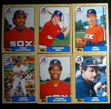 1987 Topps Traded Chicago White Sox Team Set of 6 Baseball Cards