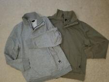 GAP Kids Set of 2 Sweatshirts 1/4 Zip Gray & Khaki Kids Sz.XXL (Womens Small)