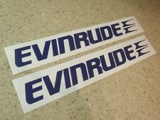 Evinrude Outboard Motor Vintage Decal Die-Cut 2-PAK FREE SHIP + FREE Fish Decal