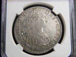 Guatemala Charles IV 8 Reales 1800 NG-M  NGC AU Details