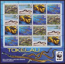 NEW ZEALAND 2011 ,TOKELAU SEA SNAKES, WORLD WILDLIFE FUND UNMOUNTED MINT
