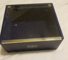Simulated Leather Ralph Lauren POLO Blue Box Case Container