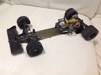 Tamiya Ferrari F1 RC 1/10 F102 Chassis With Motor (very Rare)