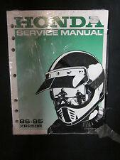 HONDA 86-95 XR250R SERVICE MANUAL 61KT109