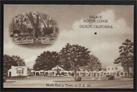 Palace Motor Lodge Gilroy California CA motel postcard